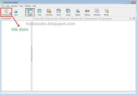 cara membuat database mysql di navicat cara menghubungkan database mysql dengan navicat for mysql