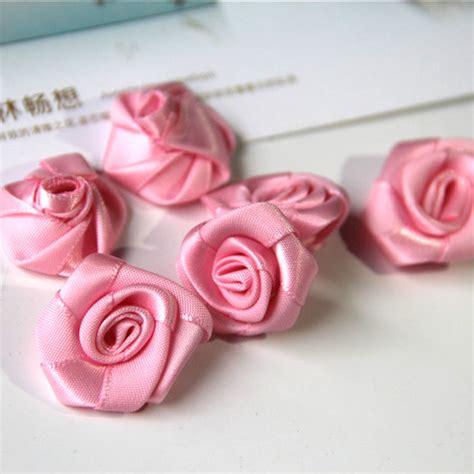 Handmade Satin Ribbon Roses - ᐂ50pcs lot handmade 25mm satin satin ribbon