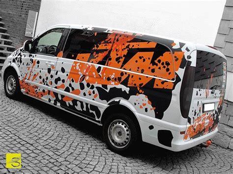 Ktm Aufkleber Transporter by Teilfolierung Eines Mercedes Vitos Zitronengelb