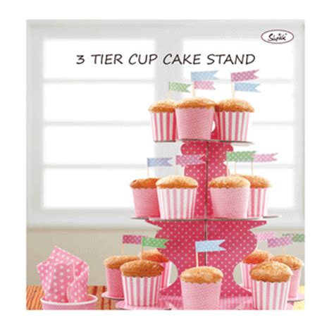 Promo Stand Cupcakes Cupcakes Stand 3 Tier Polkadot Biru By Esslshop baby pink 3 tier polka dot paper cupcake stand