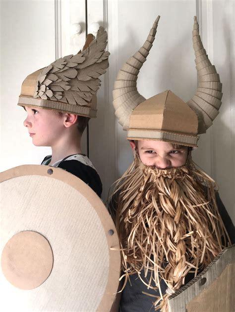 Origami Viking Helmet - a diy on how to make a cardboard viking helmet with