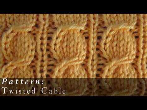 cable pattern knit youtube twisted cable knit pattern youtube