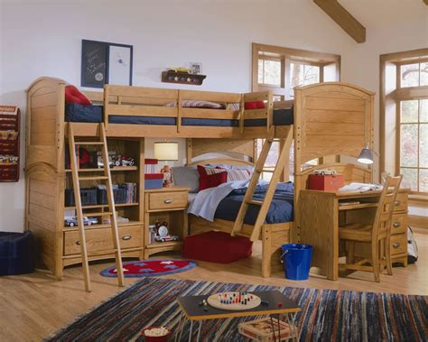Tri Bunk Bed Lea Deer Run With Tri Bunk Extension Click To Enlarge Bed Mattress Sale
