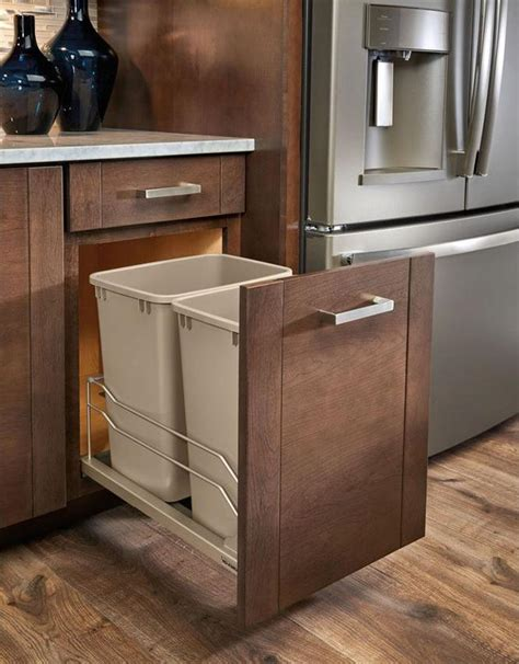 pull out garbage kitchen design idea hide pull out trash bins in your