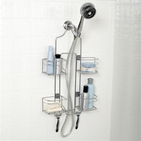 bathroom shower organizers amazon com zenna home e7546stbb expandable over the