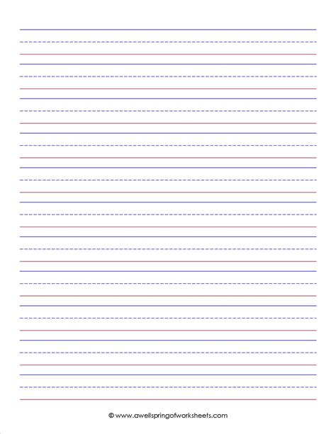 lined writing paper amazon com school specialty handwriting activity