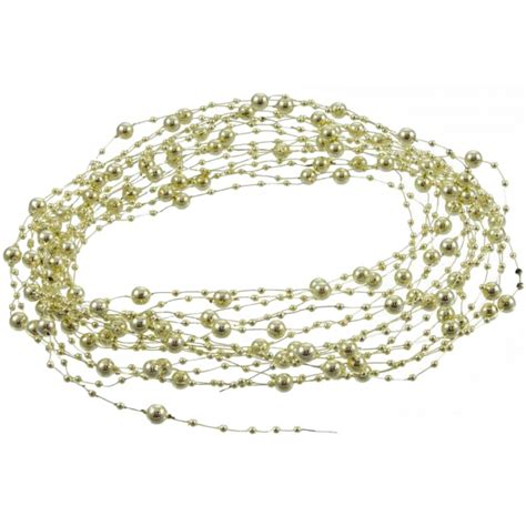 beaded wire beaded wire garland 10 yards gold bd201 27