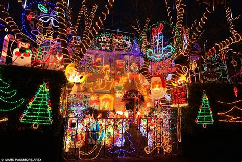 house with the mostxmas light in the world britain s lights display in wiltshire is switched on daily mail