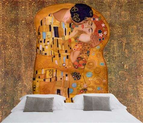 Wall Mural Decal the kiss 180 180 by gustav klimt