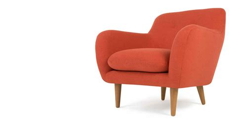 orange armchair dylan armchair retro orange made com