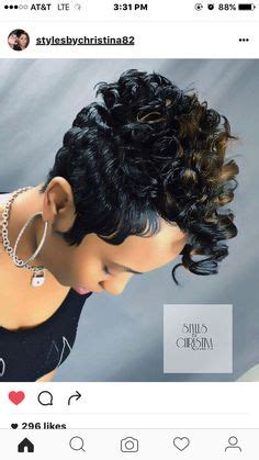 freeze curl wig relaxed hair short cut with spike like freeze curls