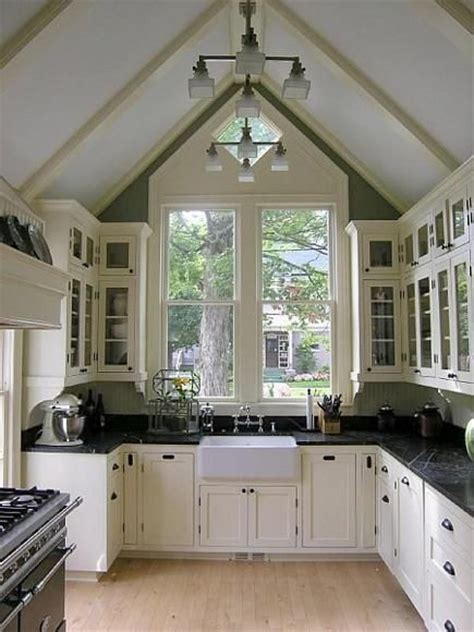 dramatic vaulted ceiling in kitchen traditional kitchen designed to showcase the dramatic vaulted kitchen