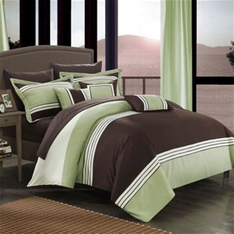 green queen comforter buy brown and green comforter from bed bath beyond