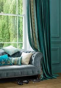 Teal Velvet Curtains Faupel Readymade Curtains