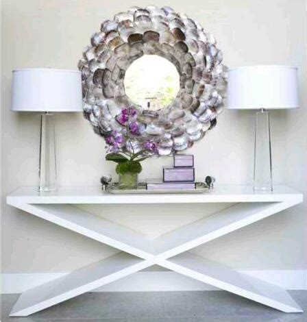 accent entry table 337 best shell art mirrors and frames images on pinterest