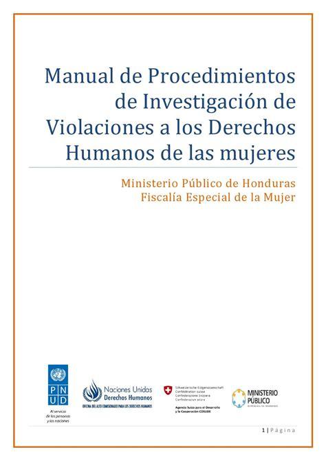 manual de layout en español manual de procedimientos de investigaci 243 n de violaciones a