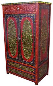 wooden moroccan armoires