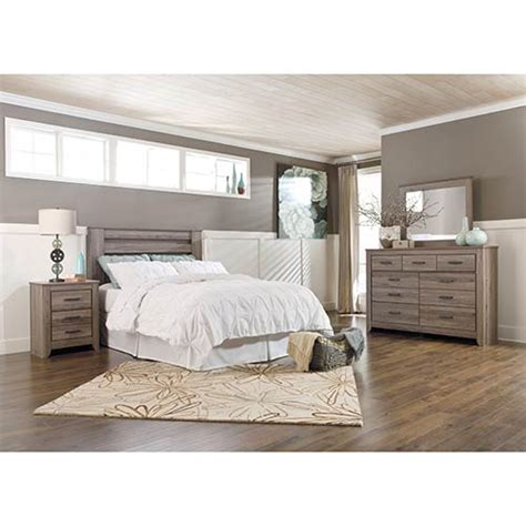 rent   ashley zelen  piece queen bedroom set
