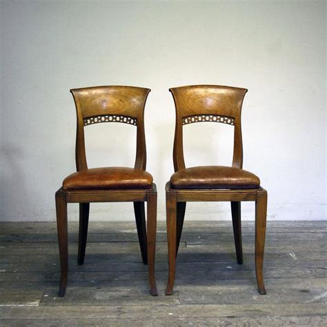 Dining Chair Seat Pads For Sale Set Of Six 20th Century Dining Chairs With Leather Seat Pads For Sale At 1stdibs