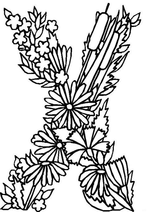 alphabet coloring pages with flowers 17 best images about alphabet on pinterest free