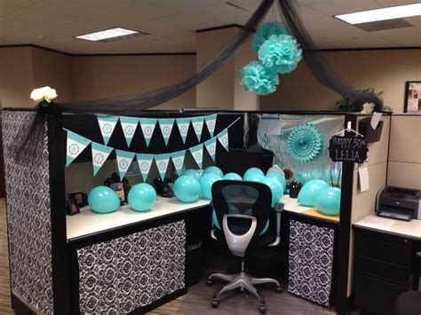 Office Desk Birthday Decoration Ideas Cubicle Decoration Birthday Crafty Things