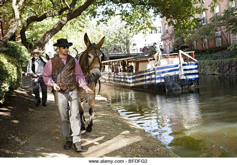 canal mule stock photos canal mule stock images alamy - Mule Pulled Canal Boat In Georgetown