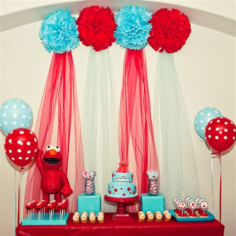 Elmo Decorations by Kara S Ideas And Turquoise Elmo Sesame