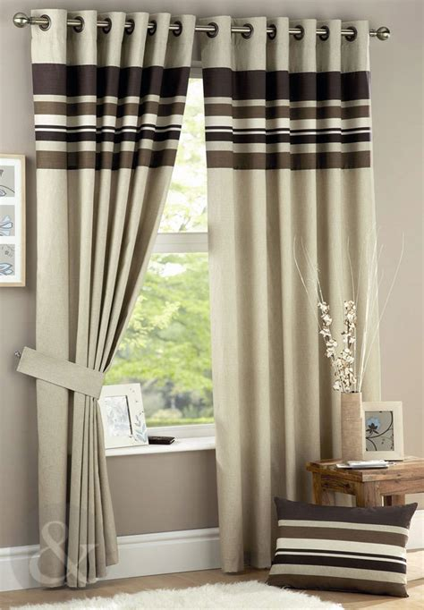 brown striped curtains brown striped curtains furniture ideas deltaangelgroup
