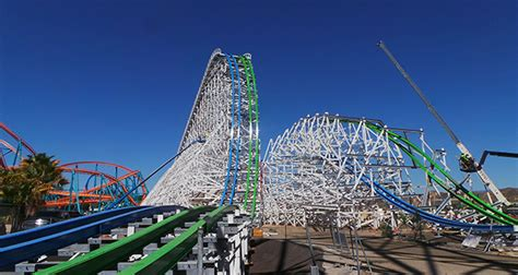 magic mountains twisted colossus nears completion