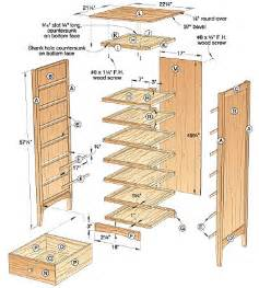 Drawer lingerie chest woodworking plan three drawer dresser plan for