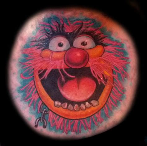 tattoo of animal from the muppets animal from muppet babies done by ashley huber yelp