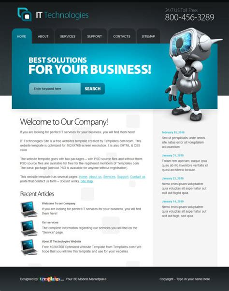 free business html templates 36 high quality templates tutorials to design business