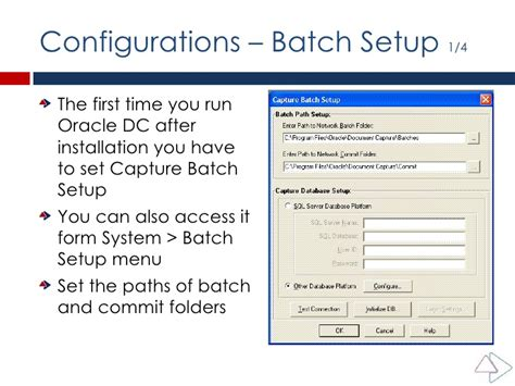 How To Put A Capture On A Config Sentry Mba by Oracle Document Capture Configuration Reference