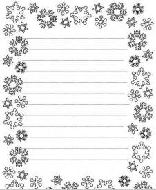 Size Of Writing Paper Snowflake Writing Paper Older Student Winter B Amp W