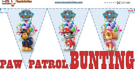printable paw patrol birthday decorations toys activities preschool activities party ideas party