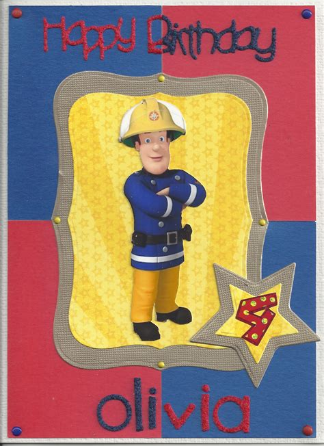 Fireman Sam Birthday Card Birthday Commissions Anjcraft