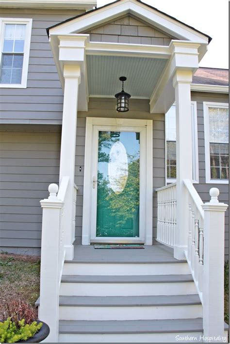 exterior paint makeover the white front doors and storms