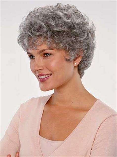 pictures of permed gray or silver hair gray hair and perms short hairstyle 2013