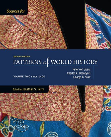 pattern of world history sources for patterns of world history volume two since