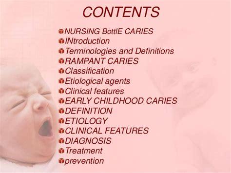 Nursing Bottle nursing bottle caries and rant caries