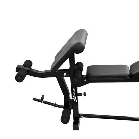 bench press lats new lifespan mf2000 home fitness gym bench press lat pulldown leg curl preacher ebay