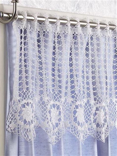 pattern for curtains crochet general decor star flowers valance