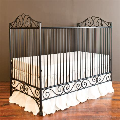 Wrought Iron Baby Crib Casablanca Crib Distressed Black