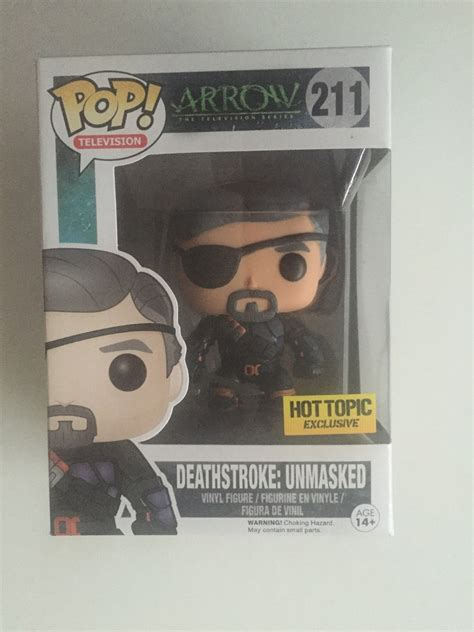 Funko Pop Arrow Deathstroke Unmasked funko pop deathstroke exclusivo unmasked tv arrow dc comics 400 00 en mercado libre
