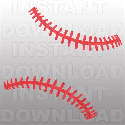 baseball pattern vinyl baseball stitches pattern svg file cutting template clip