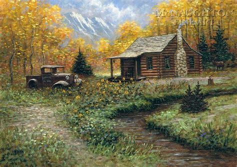 Log Cabin Paintings by Jon Mcnaughton S Cabin Memories Some Favorite Artwork
