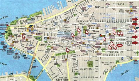 map of nyc attractions everyone s your friend in new york city