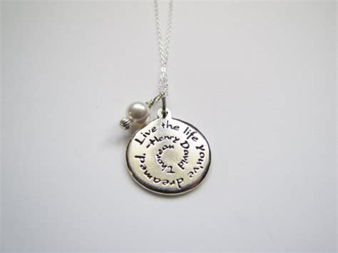 necklace inspirational quotes jewelry henry by heartprojects