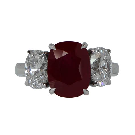 ruby and engagement ring estate jewelry