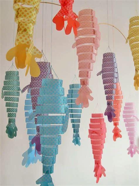 paper hanging crafts large diy paper lantern paper lanterns fish